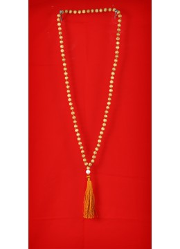 Wooden Tassel Necklaces with Pearls