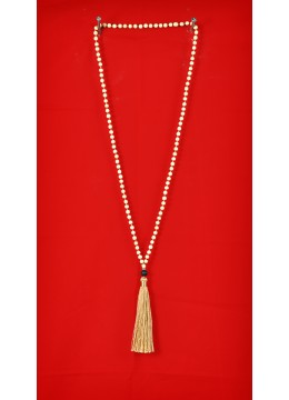 Wooden Tassel Necklaces with Lava