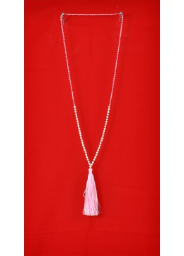 Long Tassel Necklace with Mini Pearl