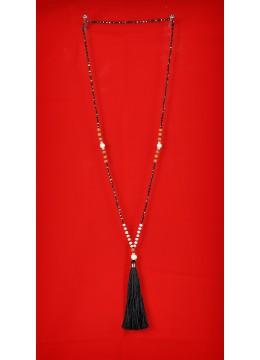 Long Tassel NecklaceRudraksha with Pearl