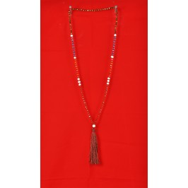 Tassel Necklace with Pearl