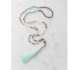 Boho Chic Tassel Necklace Knotted