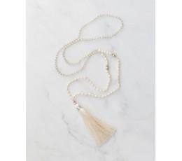 Boho Chic Tassel Necklace Mini Pearl