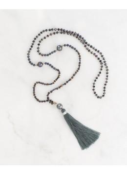 Boho Chic Black Pearls Tassel Necklace Fashion