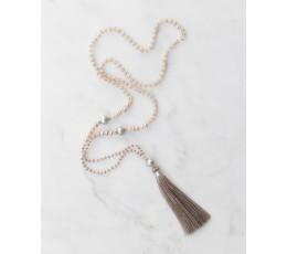 Boho Chic Mini Pearls Tassel Necklace Fashion