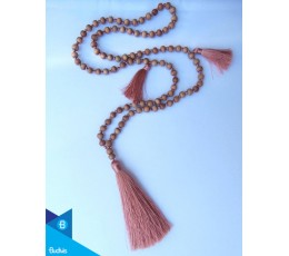 Hand Knotted Long Wooden Tassel Necklaces