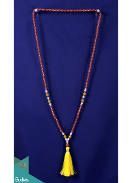 Top Mala 108 Rudraksha Long Hand Knotted Necklace