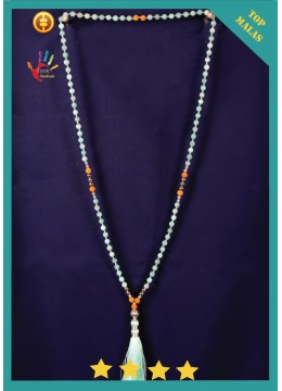 Best Seller Mala 108 Gemstones Long Hand Knotted Necklace