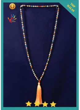 2017 Mala 108 Agate Long Hand Knotted Necklace