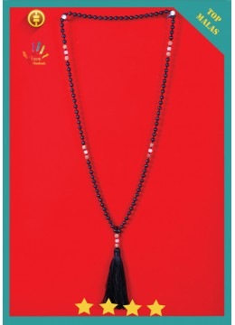 Top Model Mala 108 Lava Stones Long Hand Knotted Necklace