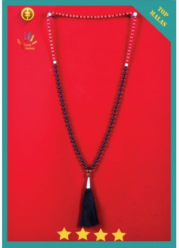 Bali Mala 108 Lava Flourite Long Hand Knotted Necklace