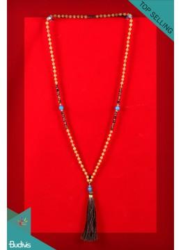 Production Mala 108 Rusraksha Long Hand Knotted Necklace
