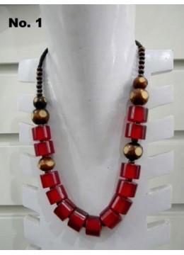 Beaded Necklace Neon