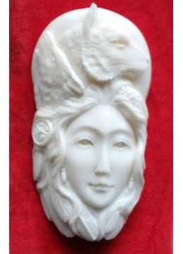 Affordable Bali Bone Carved Pendant Spirit Model