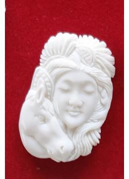 Best Selling Bali Spirit Bone Carved Pendant Model