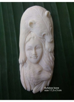 Wholesale Bali Ox Bone Carved Carved Pendant Spirit Model