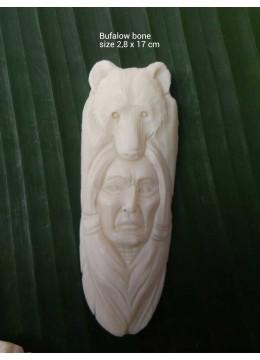 Affordable Bali Ox Bone Carved Carved Pendant Spirit Model