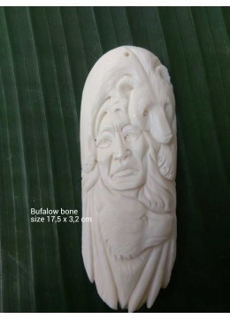 Top 2017 Model Bali Ox Bone Carved Carved Pendant Spirit Model