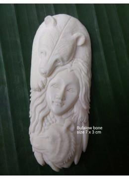 Wholesale Cheap Bali Ox Bone Carved Pendant Spirit