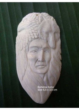 Production Bali Ox Bone Carved Carved Pendant