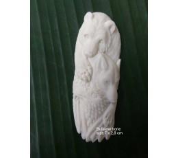 Best Model Bali Spirit Bone Carved Natural Pendant