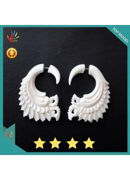Wholesale Bali Earring Ox Bone Carved Body Piercing