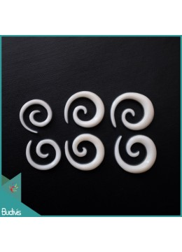 Top 2018 Model Bali Earring Ox Bone Carved Spiral Body Piercing