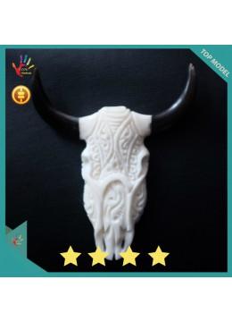 Wholesale Bali Ox Bone Carved Skull Head Buffalo
