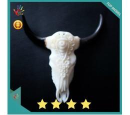 Cheap Bali Ox Bone Carved Skull Head Buffalo