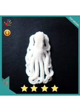 Wholesale Cheap Bali Earring Ox Bone Carved Pendant Octopus