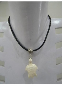 Necklace Bone Carving Turtle