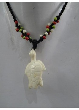Necklace Dolphin Bone Carving