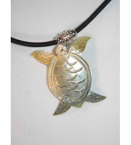 Carved Mop Pendant Necklace Top Model