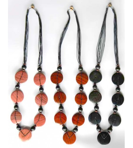 Wood Colour Necklace Affordable