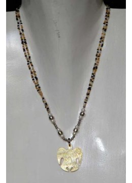 Necklace Bead Shell Carving Bali