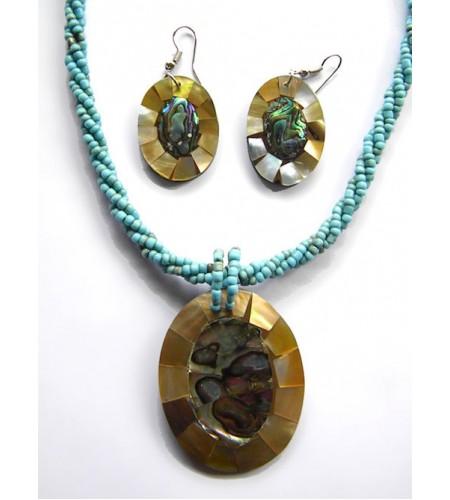 Bali Beaded Necklace Set Latest Costume Jewellery, Necklaces, Necklaces Pendants, Necklaces Beads, Resin Pendant Necklaces image