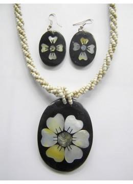 Bali Necklace Bead Pendant Set Bali