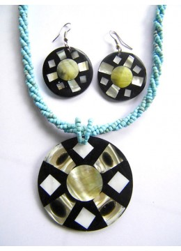 Necklace Shell Pendant Set Affordable