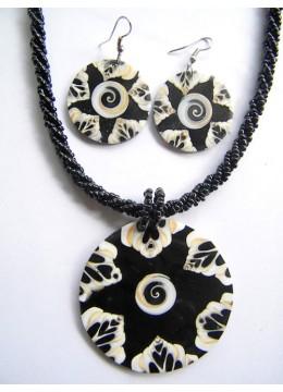 Necklace Seashell Pendant Set Bali
