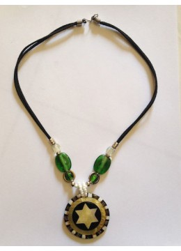 Necklace Shell Resin Pendant New!