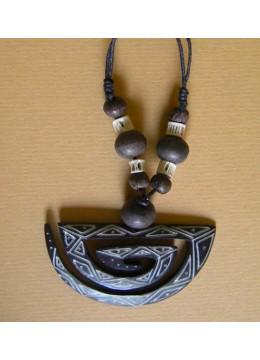 Black Necklace Bone Carving