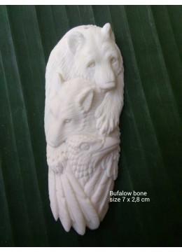 Low Price Bali Ox Bone Carved Pendant In Handmade