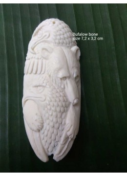 Top Selling Bali Ox Bone Carved Carved Pendant