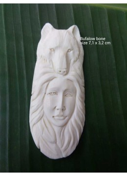 Top Sale Bali Spirit Bone Carved Pendant