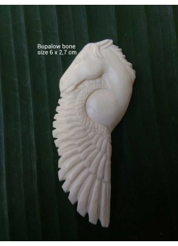 Wholesale Bali Spirit Bone Carved Natural Pendant