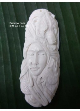 Best Model Bali Spirit Bone Carved Natural Pendant