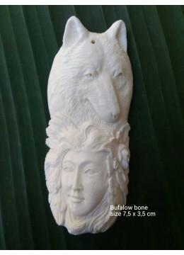 Top 2017 Bali Spirit Bone Carved Natural Pendant