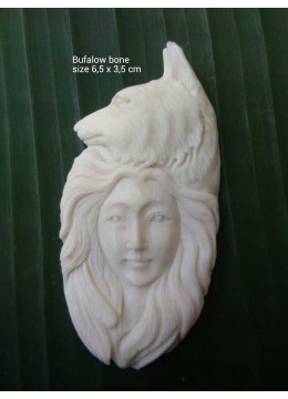 Top Sale Bali Ox Bone Carved Carved Pendant Spirit