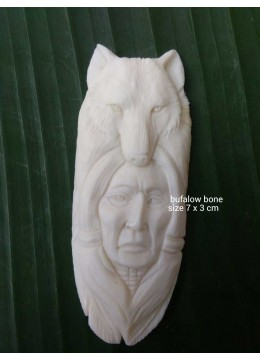 Top 2017 Bali Ox Bone Carved Carved Pendant Spirit Model