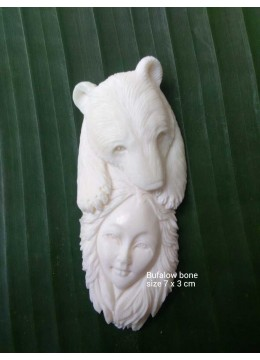 Manufacturer Bali Ox Bone Carved Carved Pendant Spirit Model